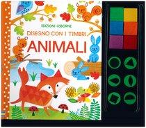 Disegno con i timbri. Animali - Fiona Watt   Libro   Itacalibri