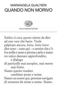 Quando non morivo - Mariangela Gualtieri | Libro | Itacalibri